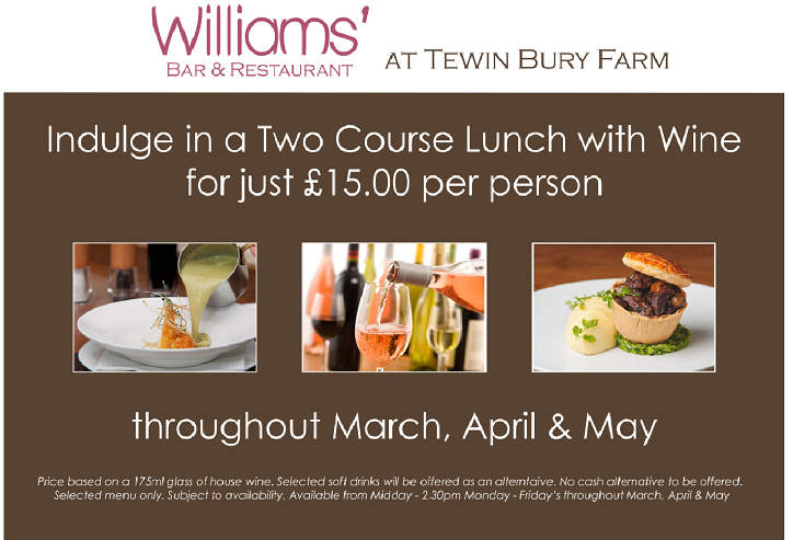 Lunchtime Offer Mar - May
