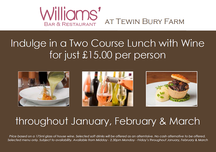 Lunchtime Offer Jan - Mar
